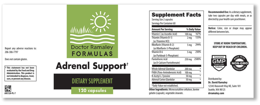 Dr. Ramaley supplement label design
