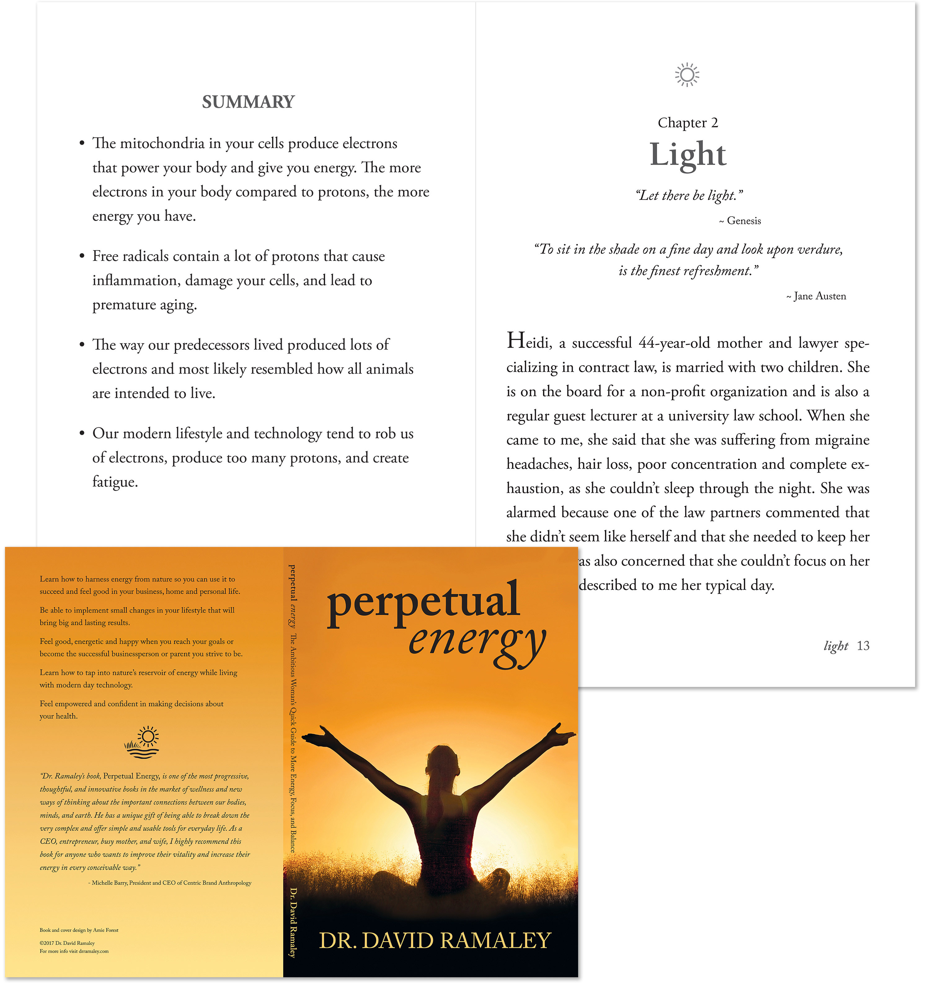 Dr. Ramaley's book cover and sample inside page