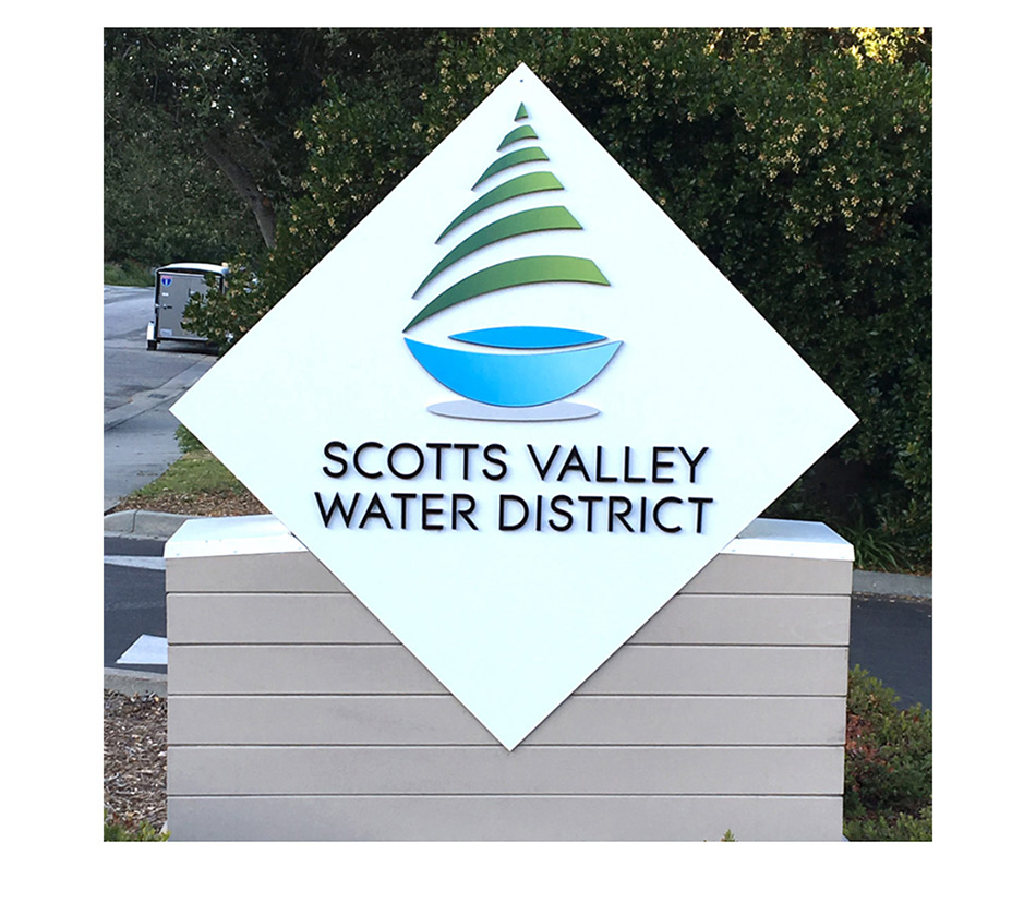 Scotts Valley Water District sign