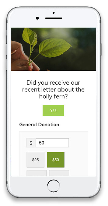 screenshot of Center for Plant Conservation mobile site