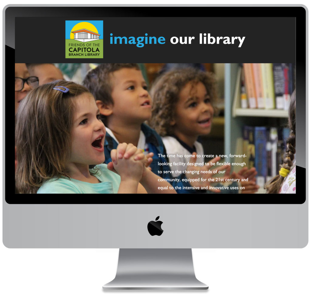 screenshot of the Friends of the Capitola Branch Library individual donor private webpage