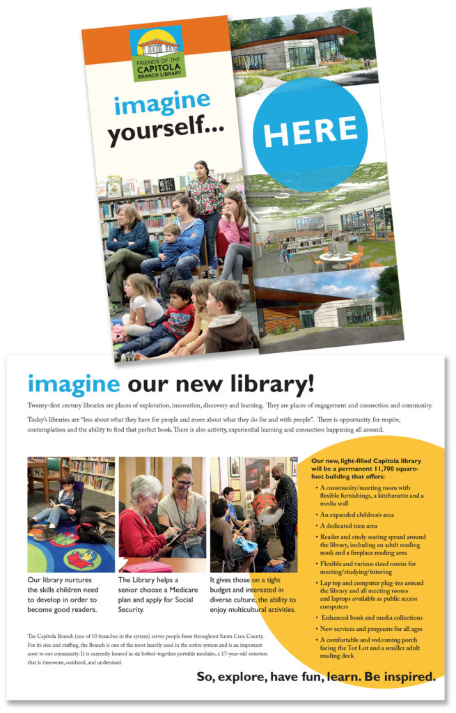 Friends of the Capitola Branch Library Imagine Yourself Here brochure