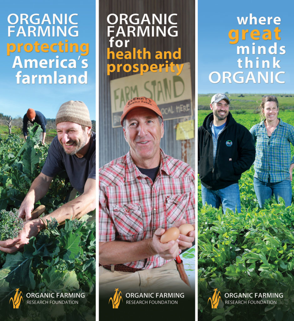 3 banners for Organic Farming Research Foundation Expo West show