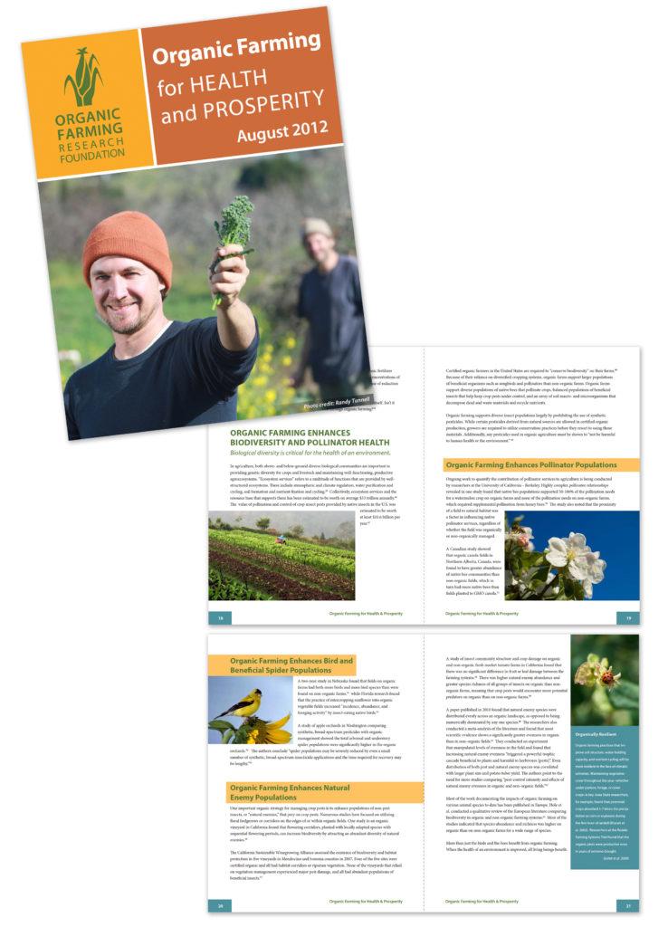 Organic Farming Research Foundation Organic Farming for Heath and Prosperity 75 page magazine