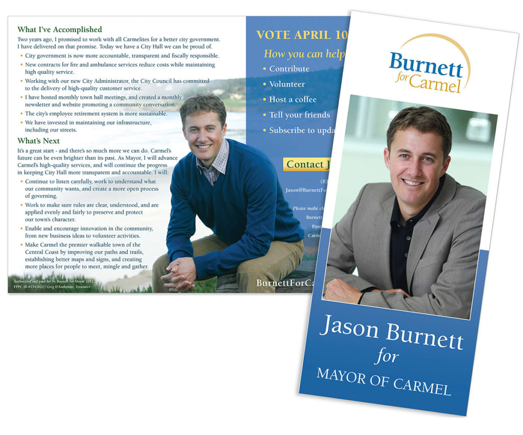 Jason Burnett for Mayor of Carmel brochure