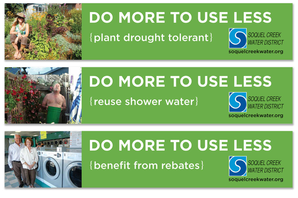 Soquel Creek Water District Do More to Use Less banners