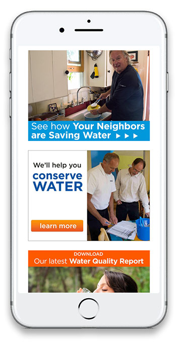 screenshot of Soquel Creek Water District mobile website