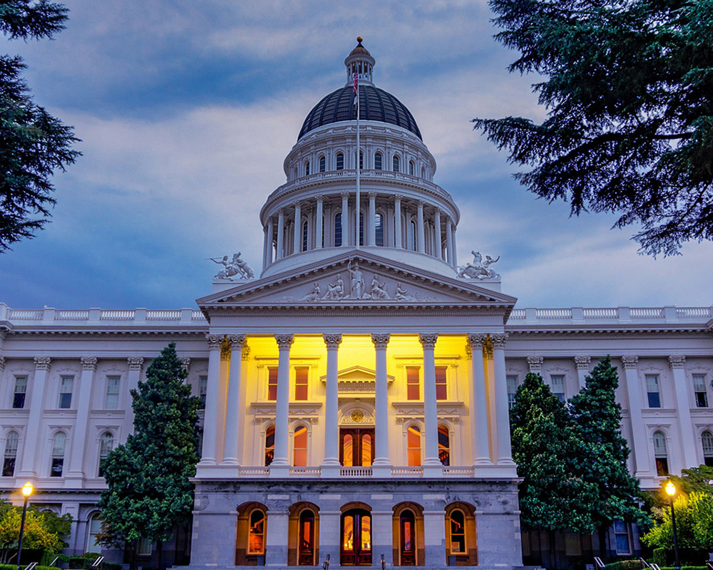 photo of the California State Capitol Building